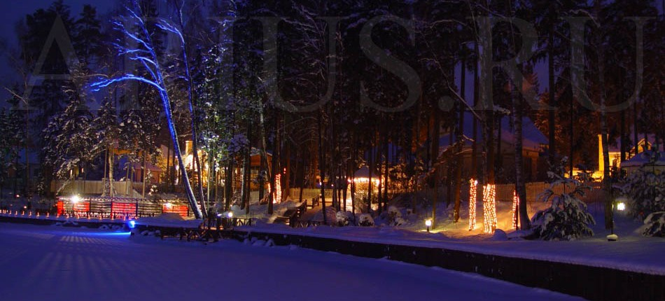Ландшафты,скульптуры и праздничное освещение